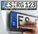 Easy-Comfort-RGS: unser günstigster Kennzeichenhalter!