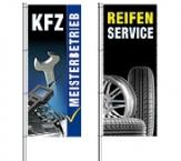 Fahnen & Spannband für KFZ-Werkstatt und Reifenservice