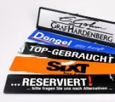 Miniletter für Kennzeichenhalter