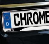 Kennzeichenhalter mit Chrome-Look