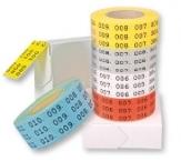 selbstklebende Etiketten mit Nummerierung