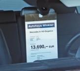 Preis- und Infohalter aus Acryl