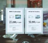 KFZ-Preisblatthalter und Inforahmen