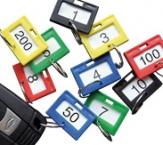nummerierte Schlüsselanhänger