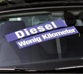 Textfolien für Fahrzeugverkauf