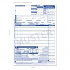 Werkstattauftrag KFZ Arbeitskarte mit AW-Erfassung,  DIN A4