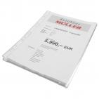 Prospekthüllen dokumentenecht: DIN A4 hoch, oben offen