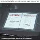 Hafttasche A3 RGS: für A3 oder 2 x A4, selbsthaftend