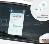 Preisblatthalter A4: mit 2 Maxi-Sauger: für KFZ-Seitenscheibe