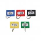 Schlüsselanhänger nummeriert von 1 bis 200, mit Ring