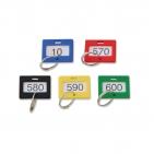 Schlüsselanhänger nummeriert von 1 bis 600, mit Ring