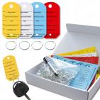 Schlüsselanhänger Car: 4 Farben mit 1 Spezialstift