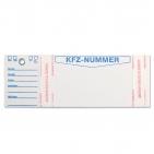 Schlüsselanhänger Identity: mit Etikett für KFZ-Nummer oder Leitzahl