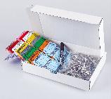 Schlüsselanhänger Autotag 1: 9 Farben, mit Ringe + 1 Stift