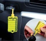 Schlüsselanhänger Autotag 2: Rasterverschluss, 100 Stück