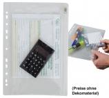 PVC Tasche Flex: mit 1-seitigem Zip-Verschluß & Heftrand