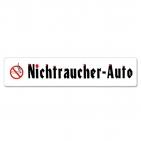 Miniletter Graphics: Nichtraucher-Auto, Kennzeicheneinleger