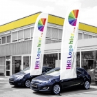 WingsBanner XL mit Individualdruck, Fahnentuch H 435 cm x B 100 cm