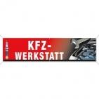 Spannband KFZ-Werkstatt, Werbebanner mit Motiven aus Autowerkstatt