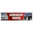 Spannband Gebrauchtwagen, Werbebanner KFZ-Handel mit Bildmotive