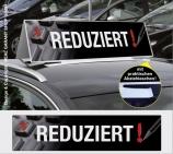 Autodachschilder XXL mit Werbetext: Reduziert