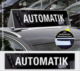 Autodachschilder XXL mit Werbetext: Automatik