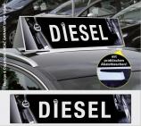 Autodachschilder XXL mit Werbetext: Diesel