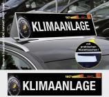Autodachschilder XXL mit Werbetext: Klimaanlage