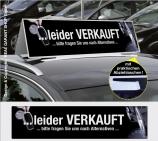 Autodachschilder XXL mit Werbetext: Leider Verkauft