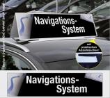 Autodachschilder XXL mit Werbetext: Navigationssystem