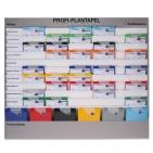 Plantafel PROFI: Planungstafel mit 11 Reihen (10+1) für DIN A4 mit Zeitskala