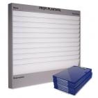 Plantafel PROFI 11 Reihen (A4) + 50 Auftragstaschen (blau) Komplettpreis*