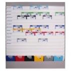Plantafel ALLROUND: für DIN A4, 16 Planungsreihen (15+1) neutrale Ausführung