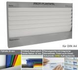 Plantafel PROFI: für DIN A4, mit 6 Planungsreihen (5+1) mit Zeitskala