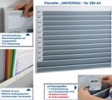 Plantafel UNIVERSAL für DIN A4, mit 11 Reihen ( 10+1 Reihe ) für perfekte Planung