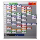 Plantafel Universal: für DIN A4 Dokumente / Mappen, 16 Reihen