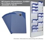 """Plantafel-SET DIN A4 """"CLASSIC-SET"""" mit 10 Auftragstaschen """"ECONOMY"""" im SET"""