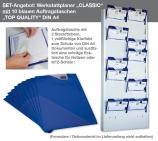 """Plantafel-SET DIN A4 """"CLASSIC-SET"""" mit 10 Auftragstaschen TOP-QUALITY II"""