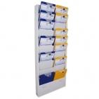 Planungstafel Plantafel CLASSIC: 2-bahnig, 10 Reihen für DIN A4 Dokumente