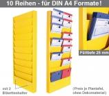 Plantafel CLASSIC: zweibahnig, 10 Reihen untereinander, für DIN A4 Dokumente