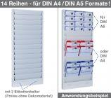 Plantafel CLASSIC A5 zweibahnig, 10 Reihen untereinander, für DIN A5 oder DIN A4