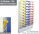 Planungstafel Classic-MAXX: 3-bahnig, 10 Reihen für 30 Steckplätze DIN A4