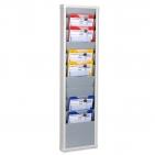 Plantafel Office-S: 10 Reihen für DIN A4 Hochformate oder Auftragstaschen