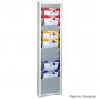 Plantafel 1-reihig Office-S: 10 Bahnen für DIN A4 Dokumente oder Auftragstaschen