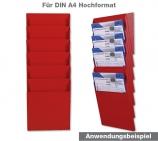 """Fächersystem """"MULTI"""" 6 Fächer für DIN A4 Hochformat Griffsicht-System"""