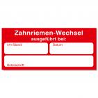 Serviceaufkleber Zahnriemenwechsel bei km-Stand / Datum