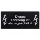 Warnetikett: Fahrzeug alarmgeschützt! für KFZ-Glas