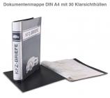 Dokumentenmappe A4 mit 30 Klarsichthüllen für KFZ-Briefe (dokumentenecht)