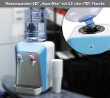 Wasserspender-Set Aqua Mini: 2,5 l  PET-Flasche 100 Becher