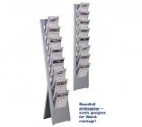Prospektständer freistehend oder Wandmontage möglich für 8 x DIN A4
